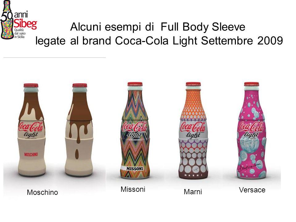 Alcuni esempi di Full Body Sleeve legate al brand Coca-Cola Light Settembre 2009