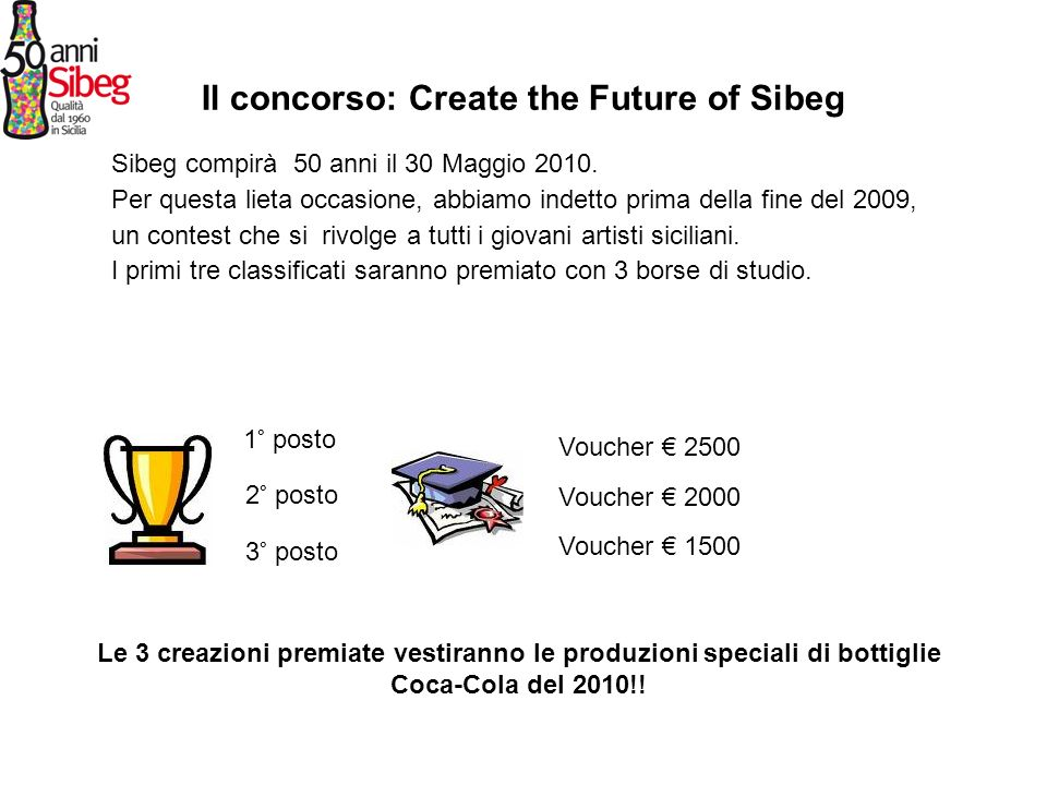 Il concorso: Create the Future of Sibeg