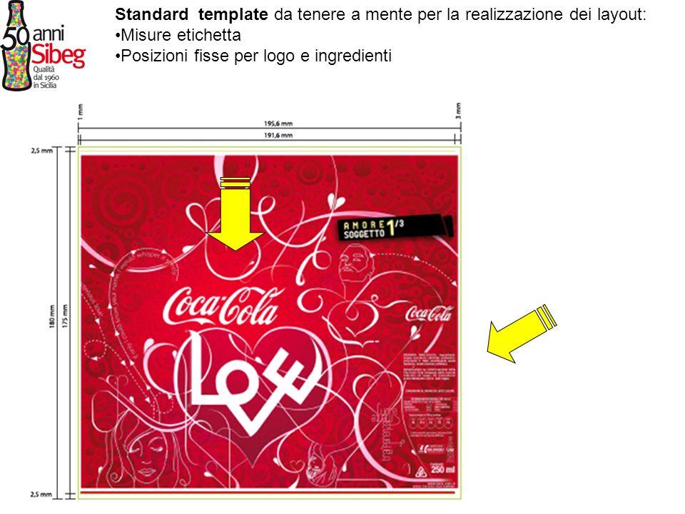 Standard template da tenere a mente per la realizzazione dei layout: