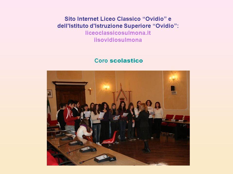 Sito Internet Liceo Classico Ovidio e dell Istituto d Istruzione Superiore Ovidio :