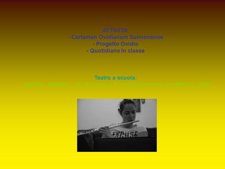 - Certamen Ovidianum Sulmonense - Progetto Ovidio