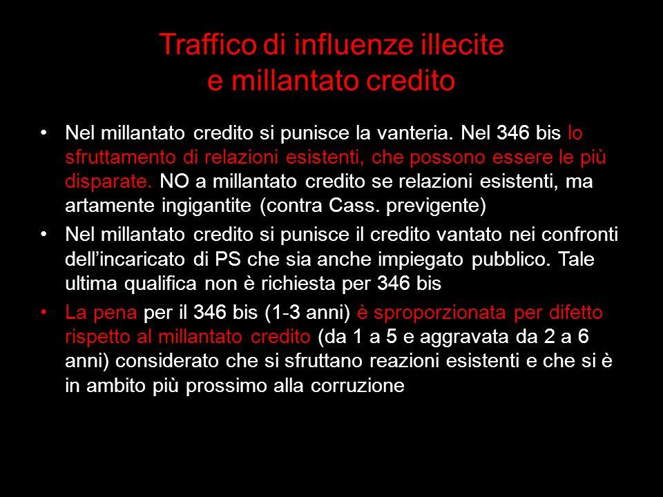 Traffico di influenze illecite e millantato credito