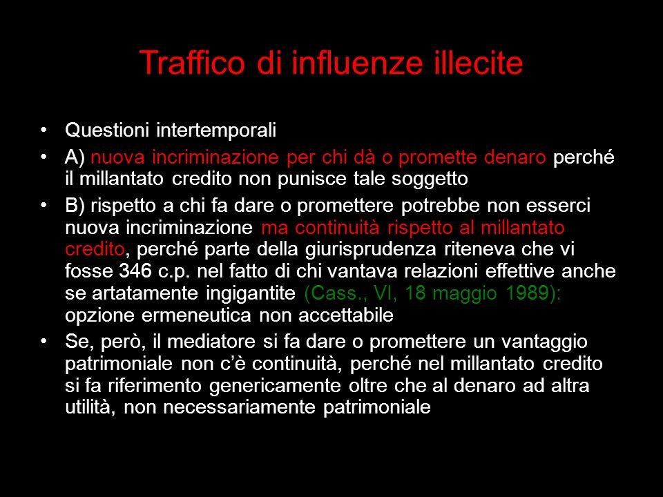 Traffico di influenze illecite