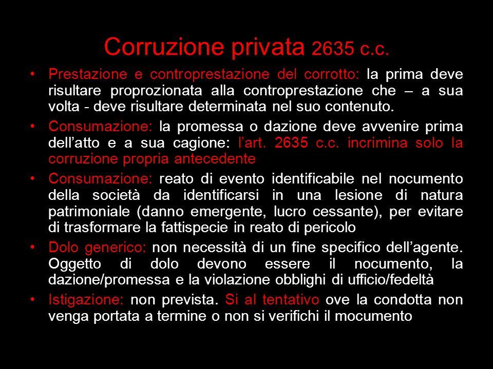 Corruzione privata 2635 c.c.