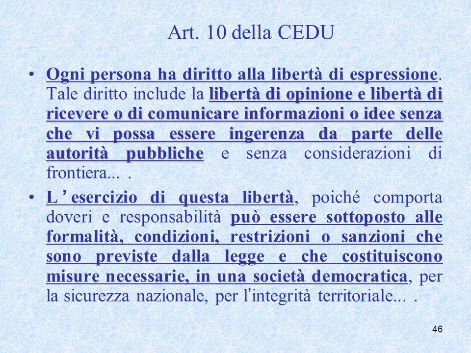 Corte Europea dei diritti dell'uomo (6 maggio 2003, n