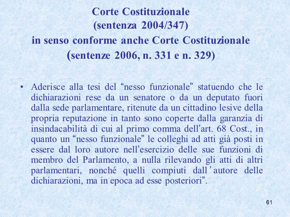 Il caso De Iorio e Patrono; Il caso Ielo.