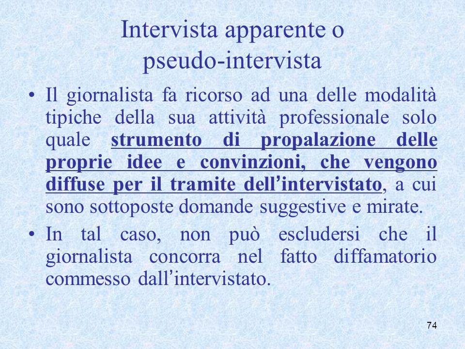 Intervista cd. autentica e concorso nel delitto di diffamazione: le diverse tesi a confronto