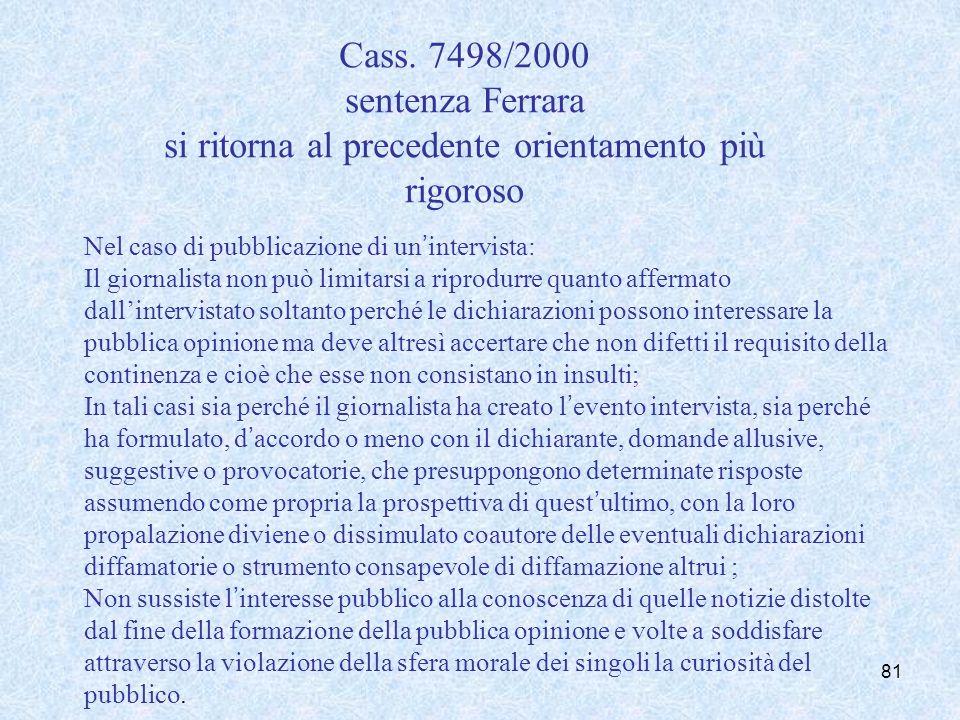 Cass. Sez. Unite 37140/2001 risolve il contrasto