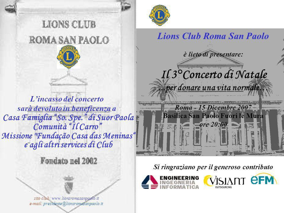Il 3°Concerto di Natale Lions Club Roma San Paolo