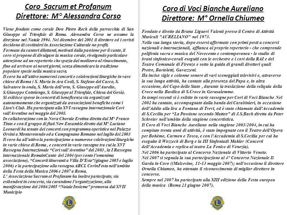 Coro Sacrum et Profanum Direttore: M° Alessandra Corso