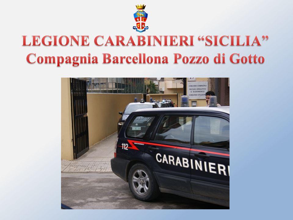 LEGIONE CARABINIERI SICILIA Compagnia Barcellona Pozzo di Gotto