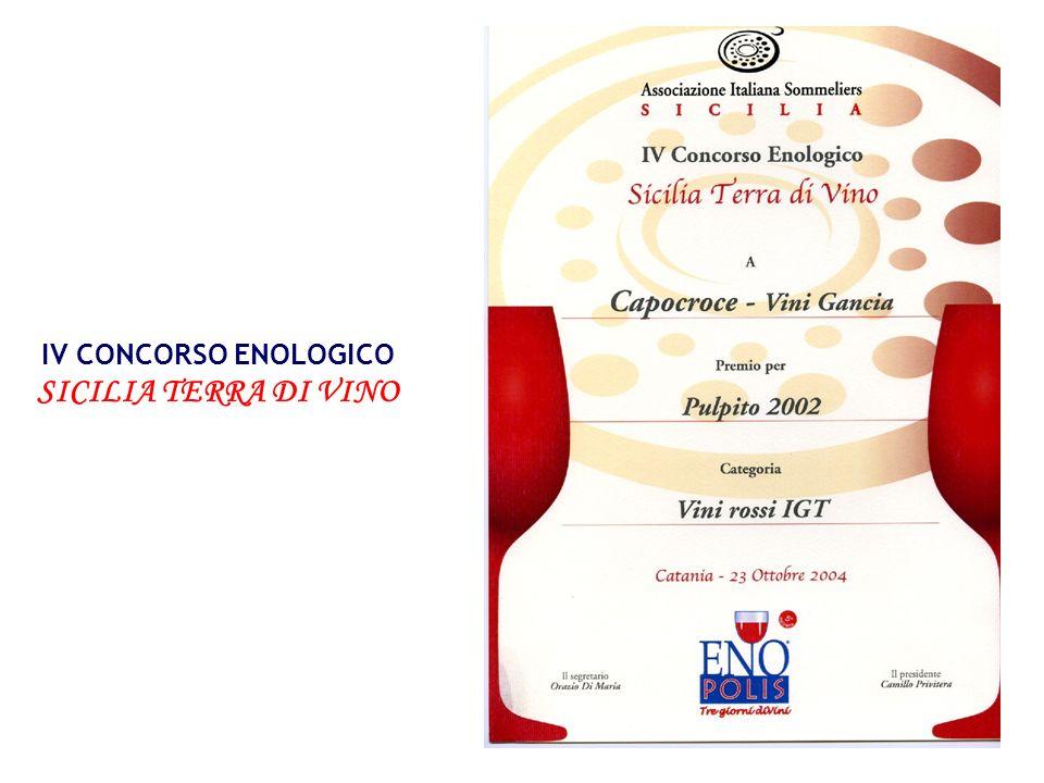 IV CONCORSO ENOLOGICO SICILIA TERRA DI VINO