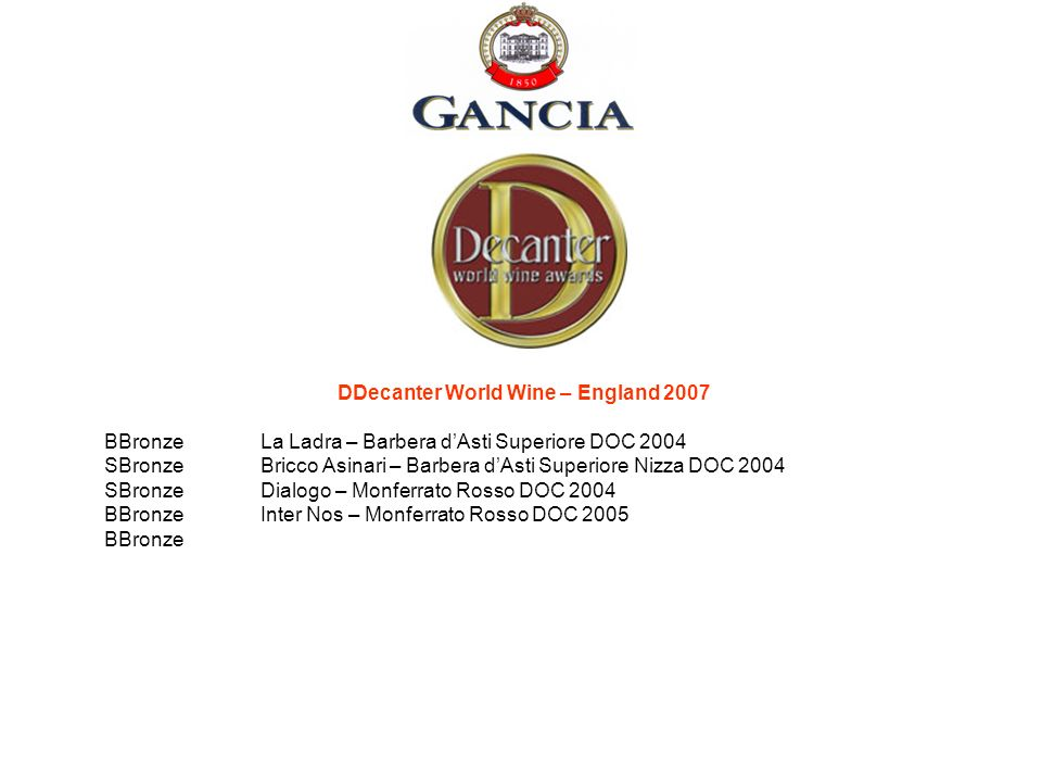 DDecanter World Wine – England 2007