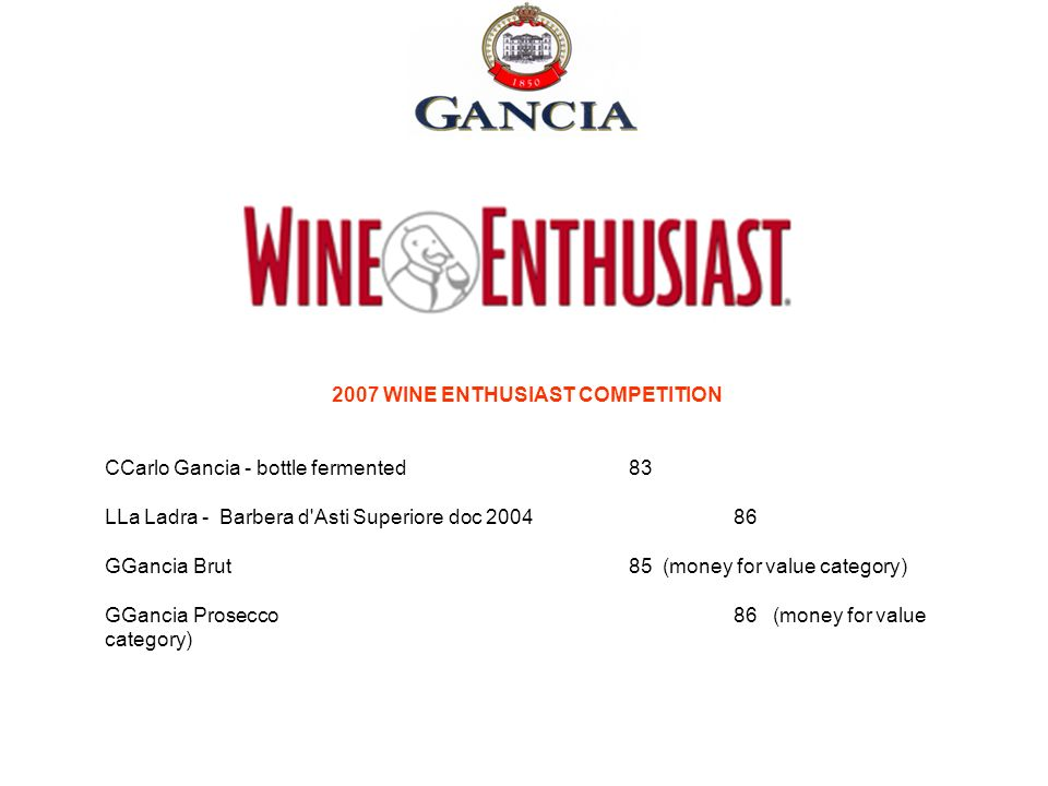 2007 WINE ENTHUSIAST COMPETITION