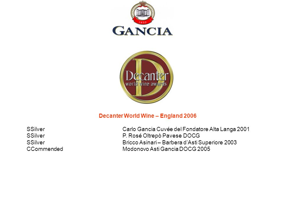 Decanter World Wine – England 2006