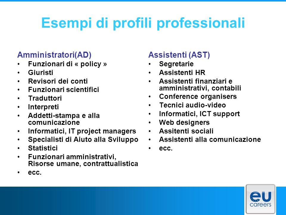 Esempi di profili professionali