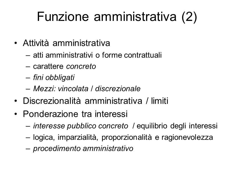 Funzione amministrativa (2)