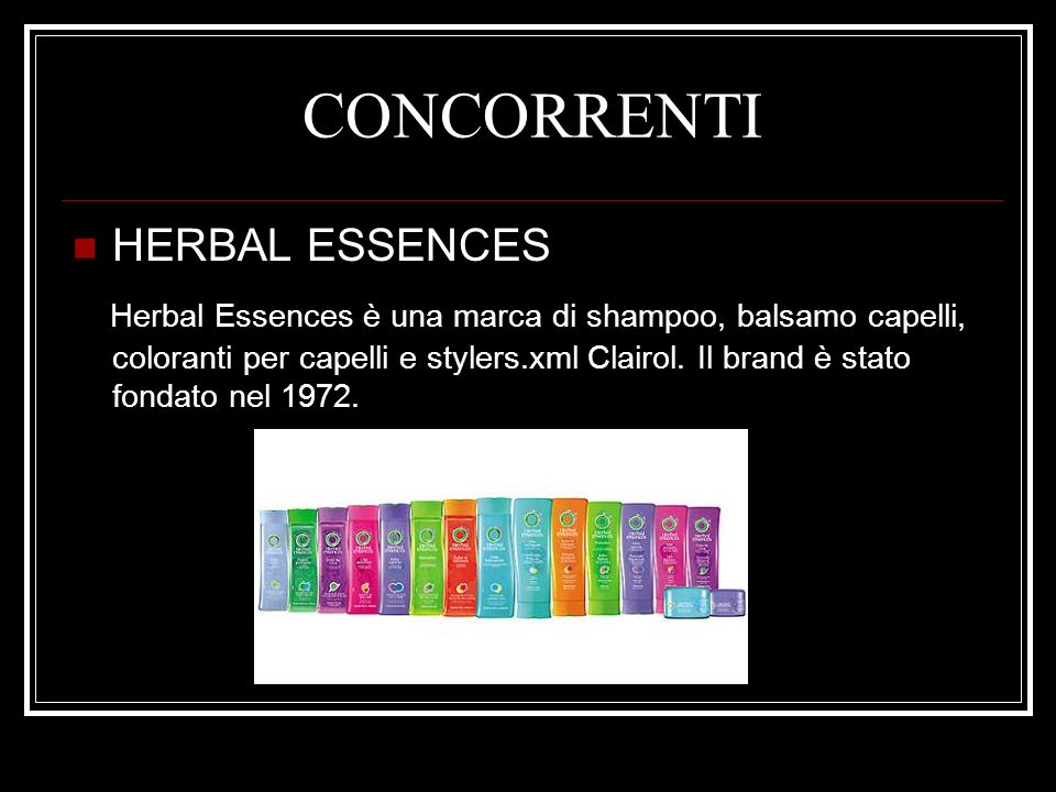 CONCORRENTI HERBAL ESSENCES