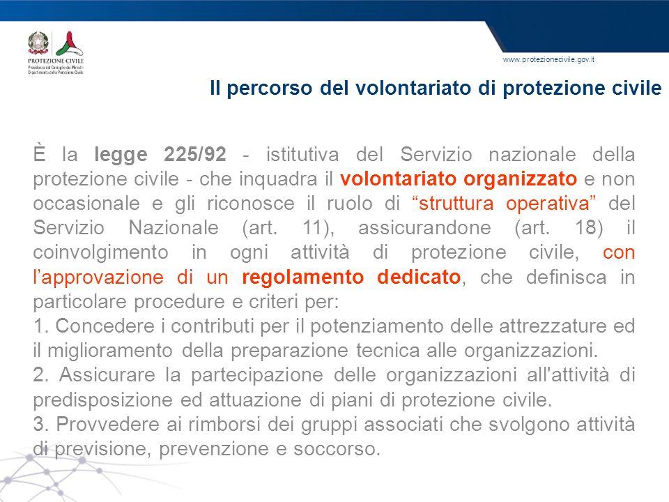 Il percorso del volontariato di protezione civile