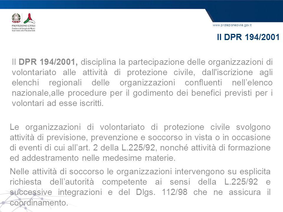 Il DPR 194/2001