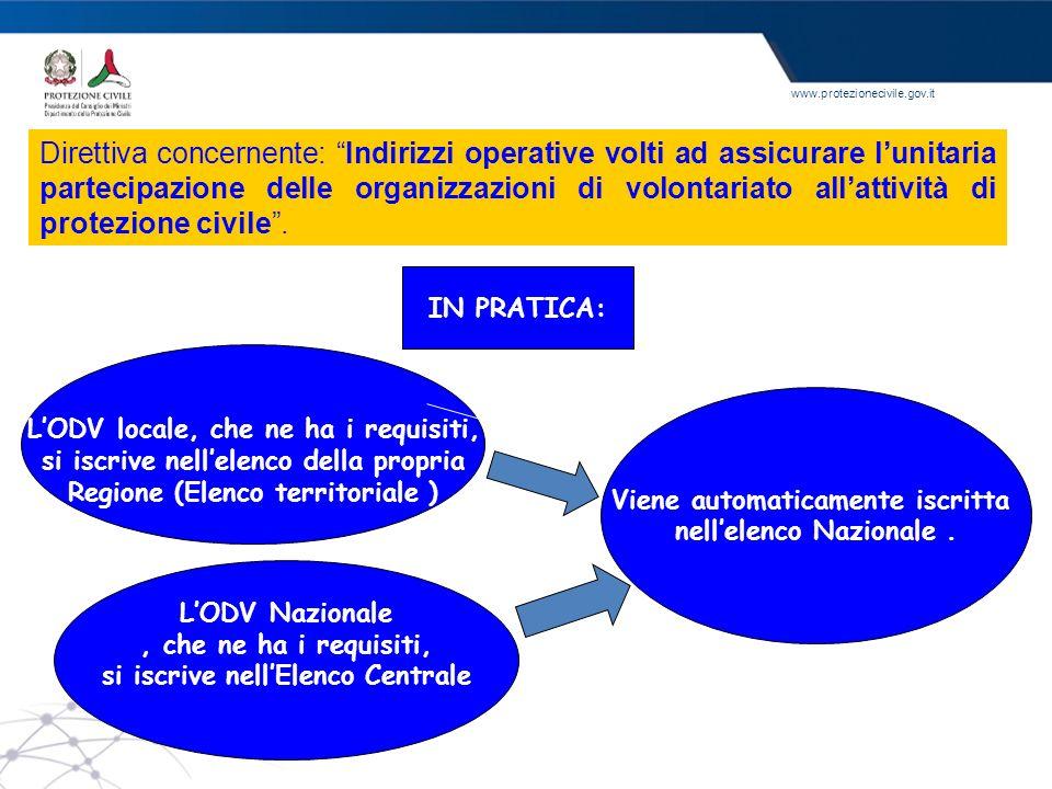 Direttiva concernente: Indirizzi operative volti ad assicurare l'unitaria partecipazione delle organizzazioni di volontariato all'attività di protezione civile .