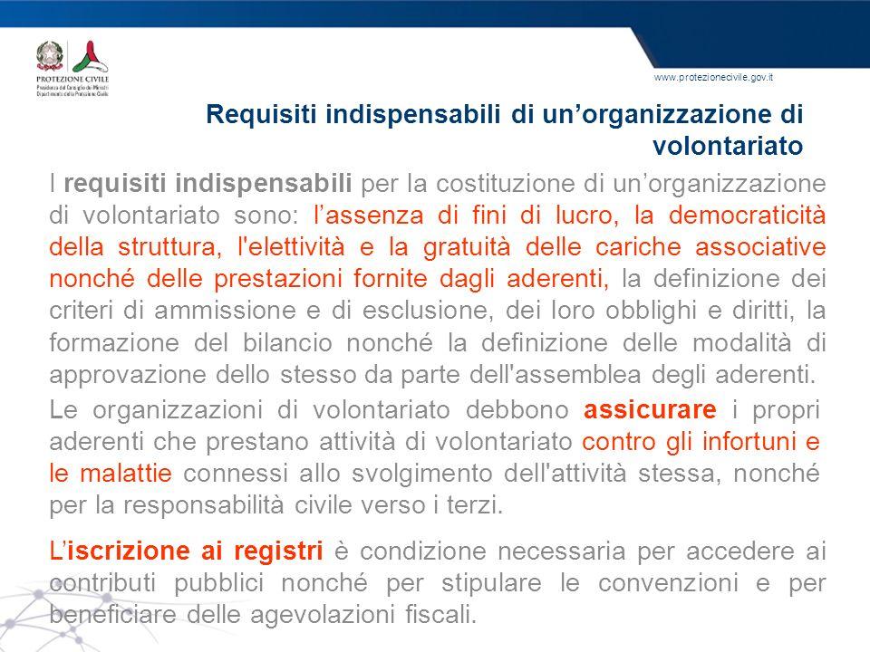 Requisiti indispensabili di un'organizzazione di volontariato