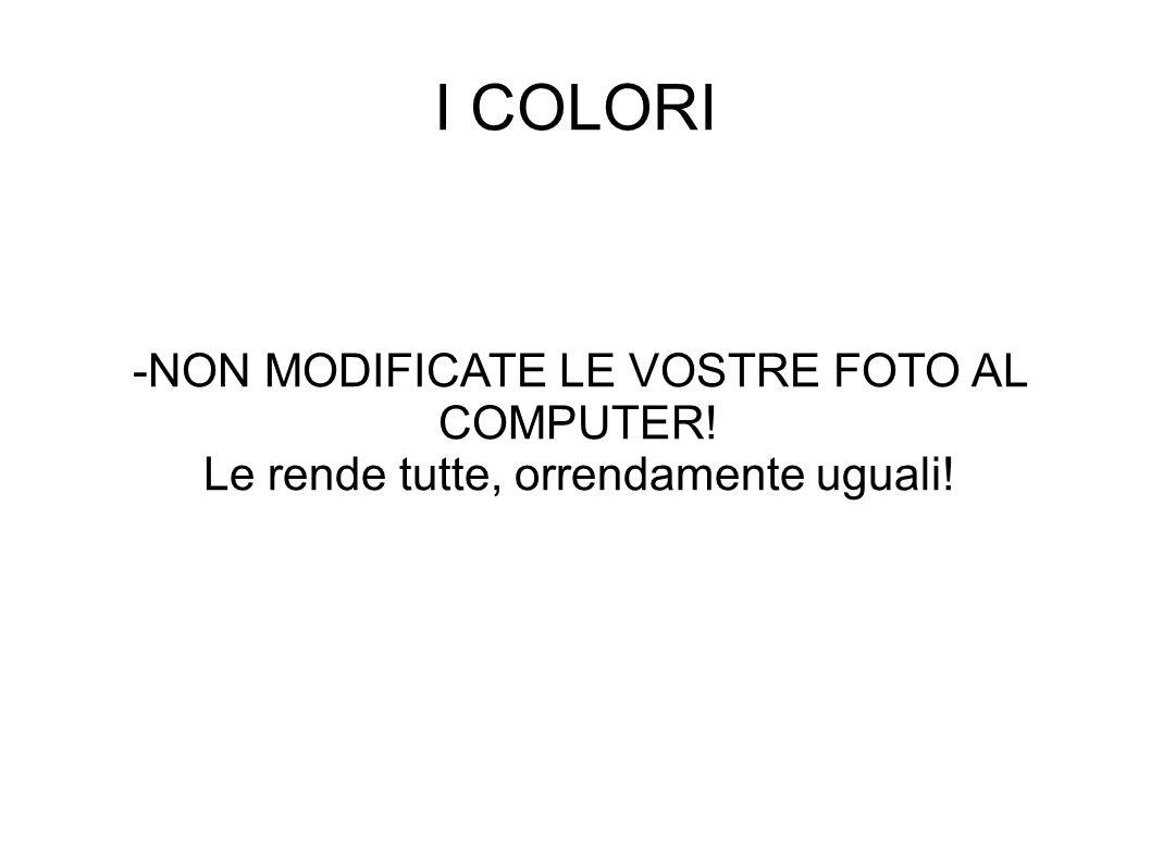 I COLORI -NON MODIFICATE LE VOSTRE FOTO AL COMPUTER!