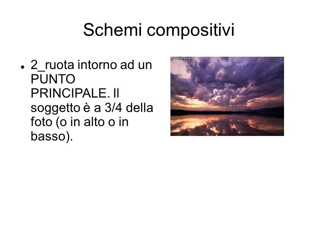 Schemi compositivi 2_ruota intorno ad un PUNTO PRINCIPALE. Il soggetto è a 3/4 della foto (o in alto o in basso).