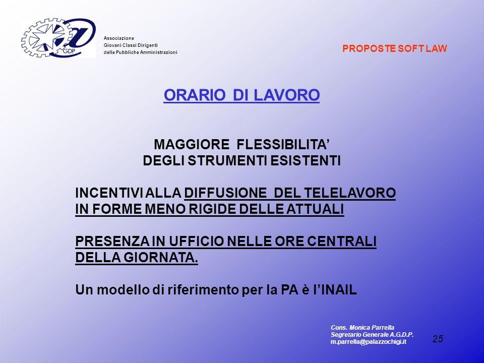 MAGGIORE FLESSIBILITA' DEGLI STRUMENTI ESISTENTI