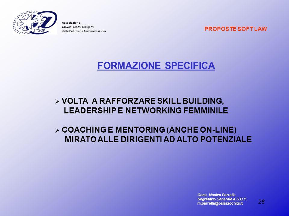 FORMAZIONE SPECIFICA LEADERSHIP E NETWORKING FEMMINILE