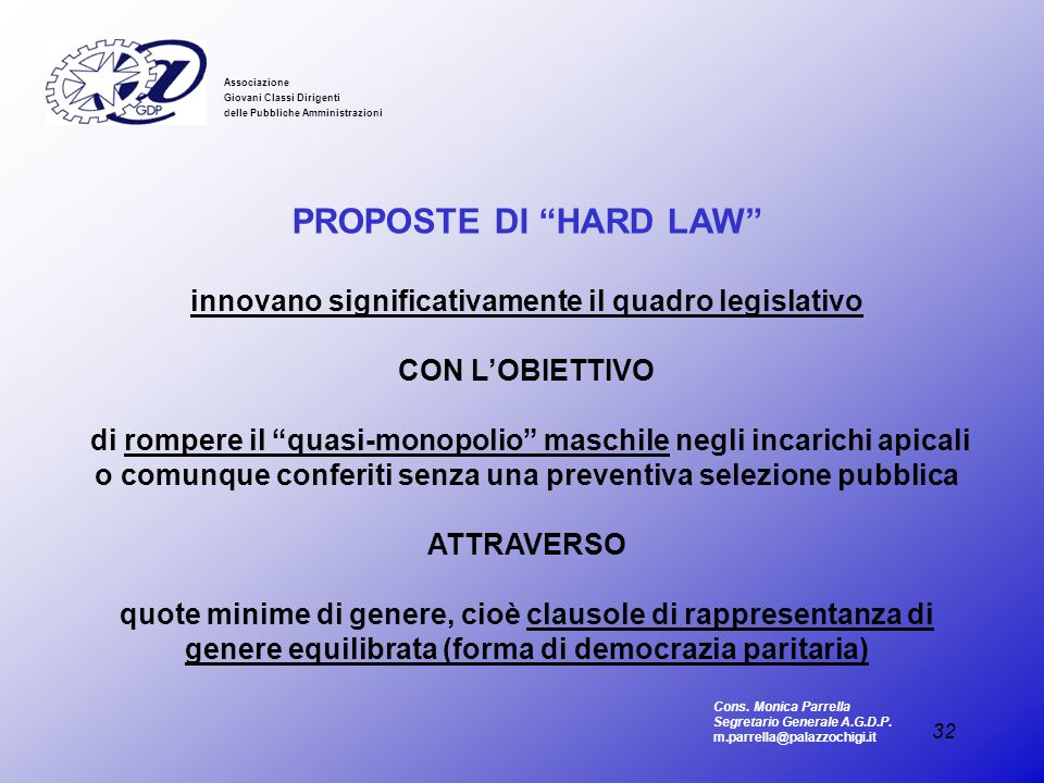 innovano significativamente il quadro legislativo