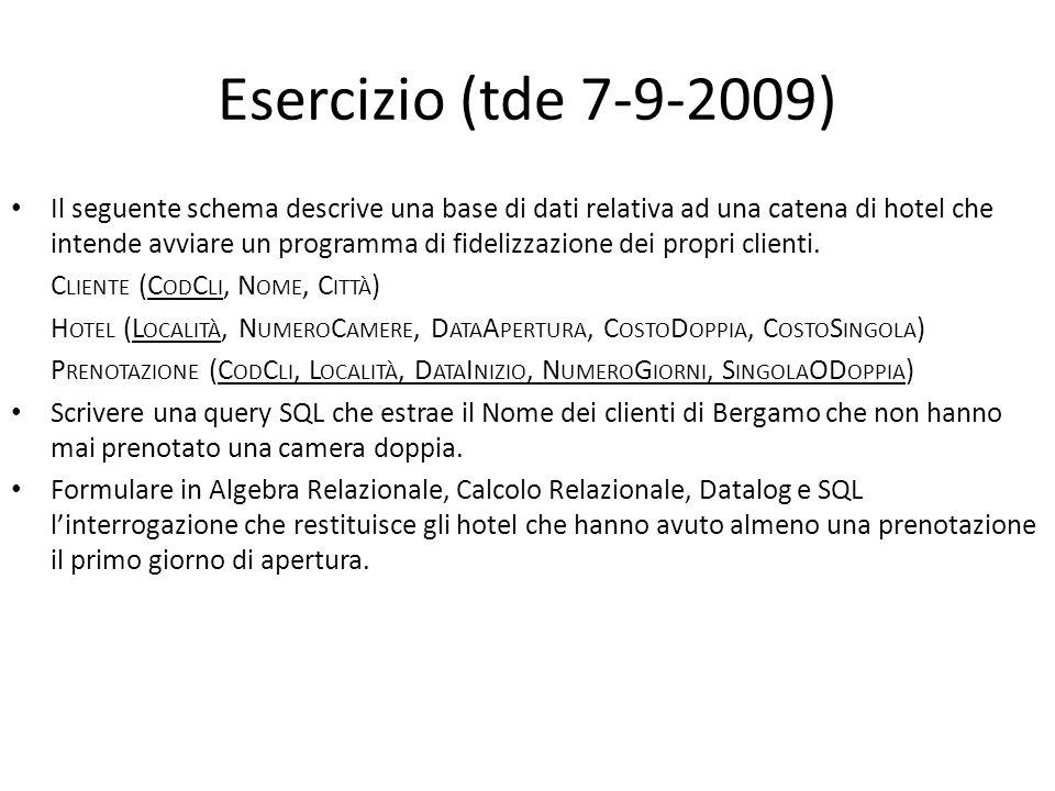 Esercizio (tde 7-9-2009)