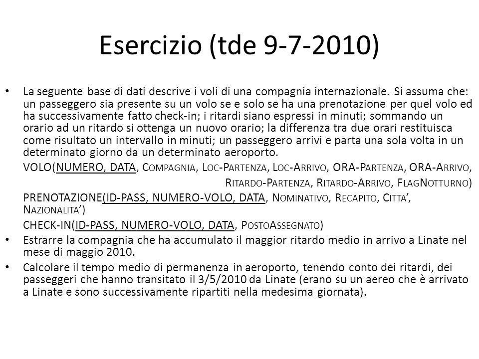 Esercizio (tde 9-7-2010)