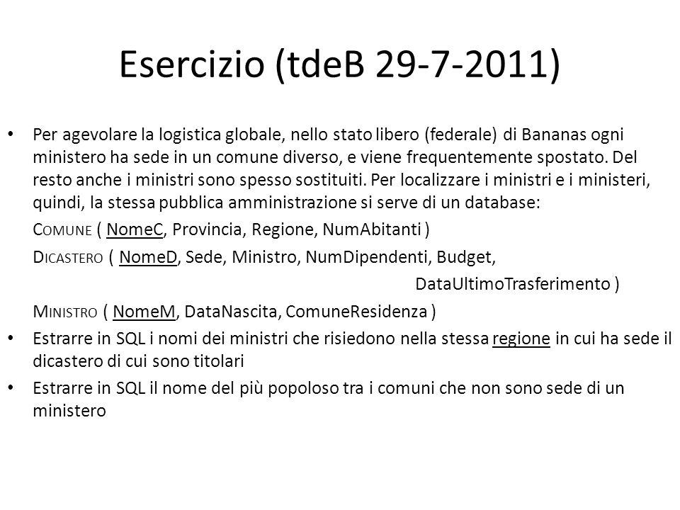 Esercizio (tdeB 29-7-2011)