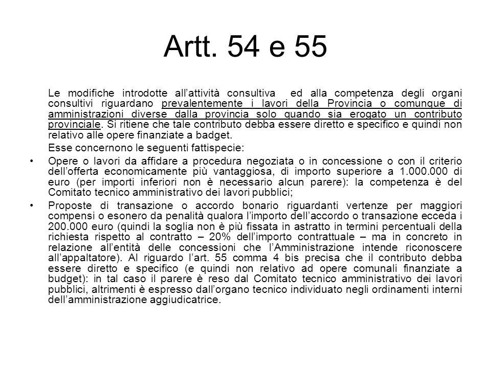 Artt. 54 e 55