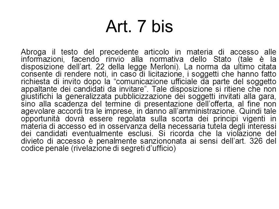 Art. 7 bis