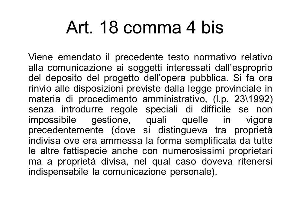 Art. 18 comma 4 bis