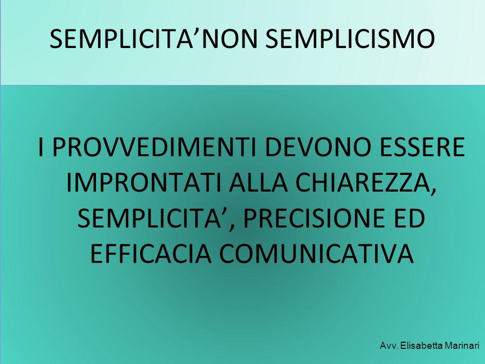 SEMPLICITA'NON SEMPLICISMO