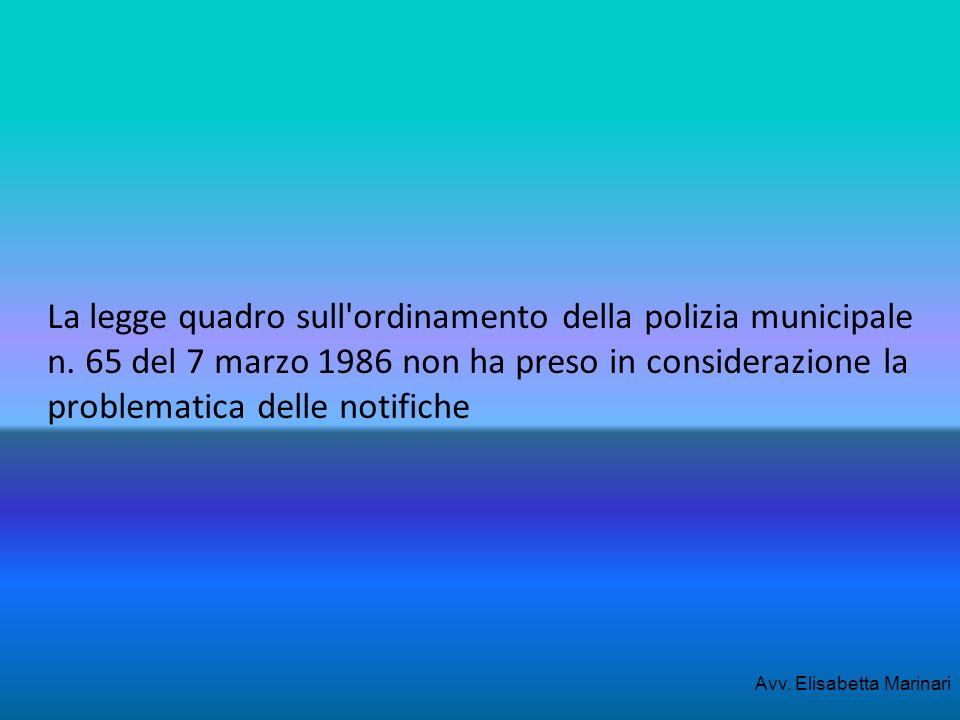 La legge quadro sull ordinamento della polizia municipale n