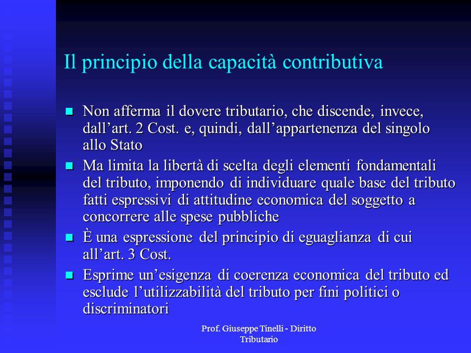 Il principio della capacità contributiva