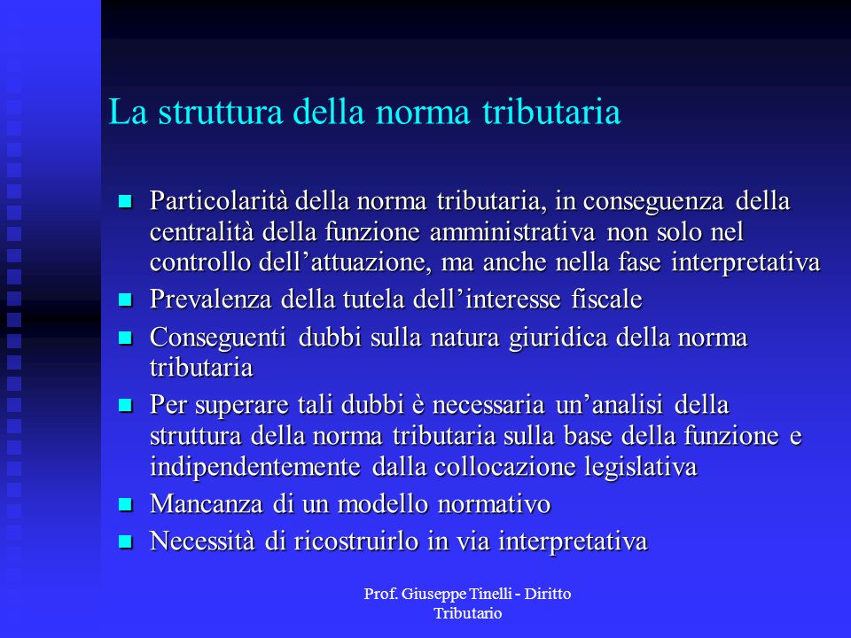 La struttura della norma tributaria