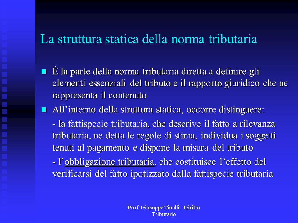 La struttura statica della norma tributaria