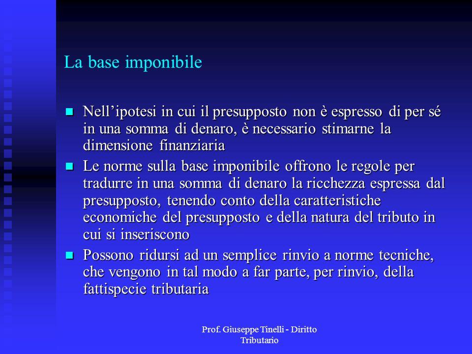 Prof. Giuseppe Tinelli - Diritto Tributario
