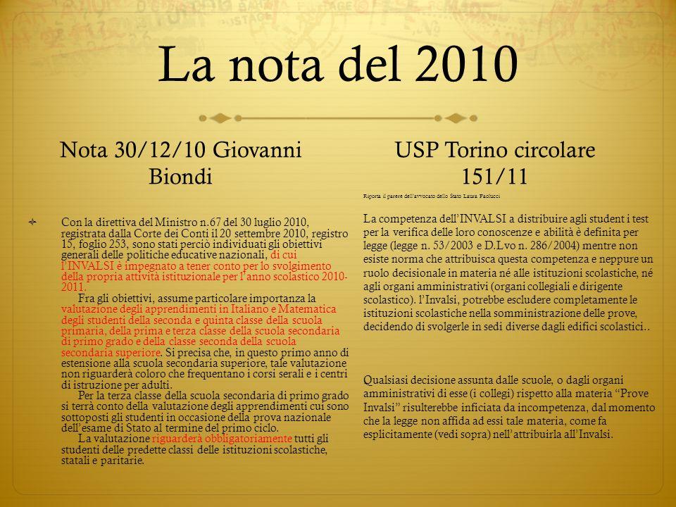 Nota 30/12/10 Giovanni Biondi