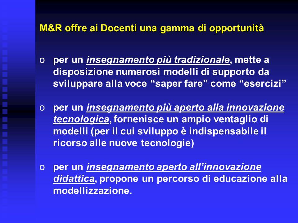 M&R offre ai Docenti una gamma di opportunità