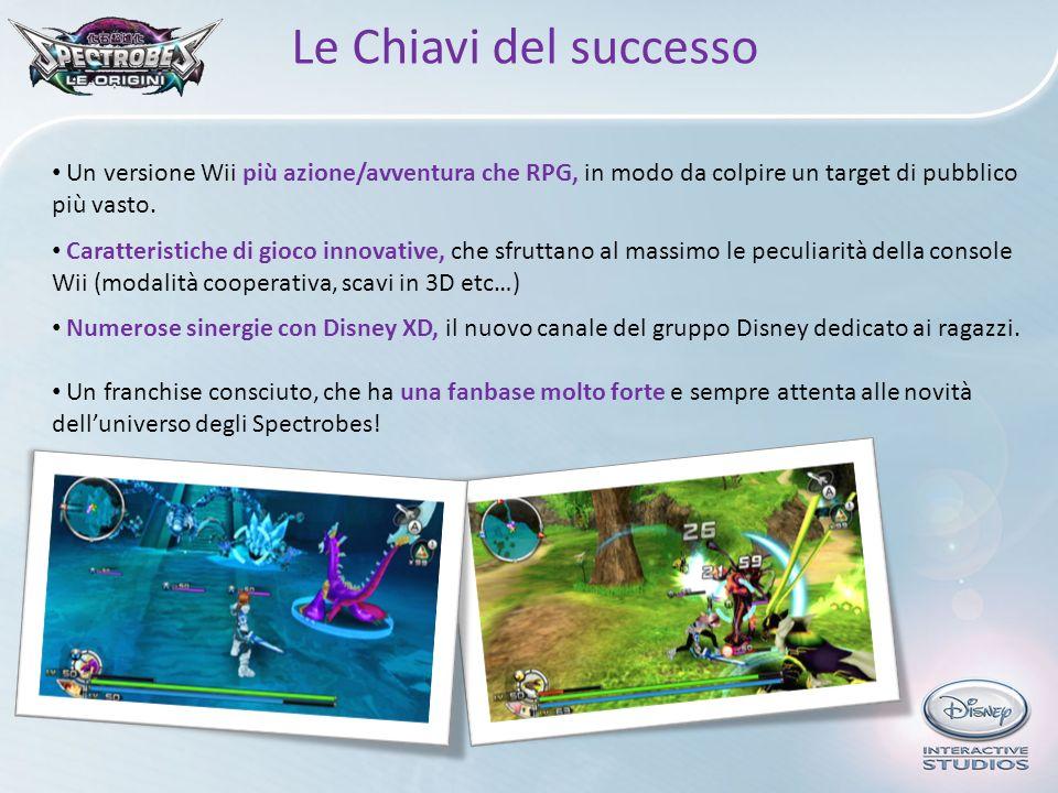 Le Chiavi del successo Un versione Wii più azione/avventura che RPG, in modo da colpire un target di pubblico più vasto.