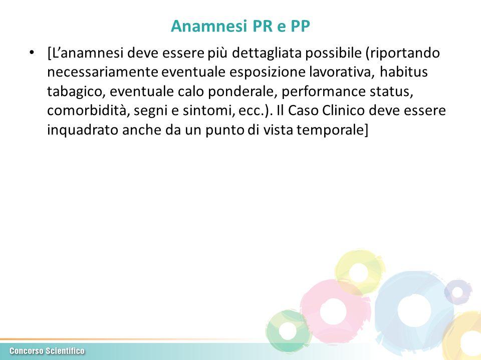 Anamnesi PR e PP