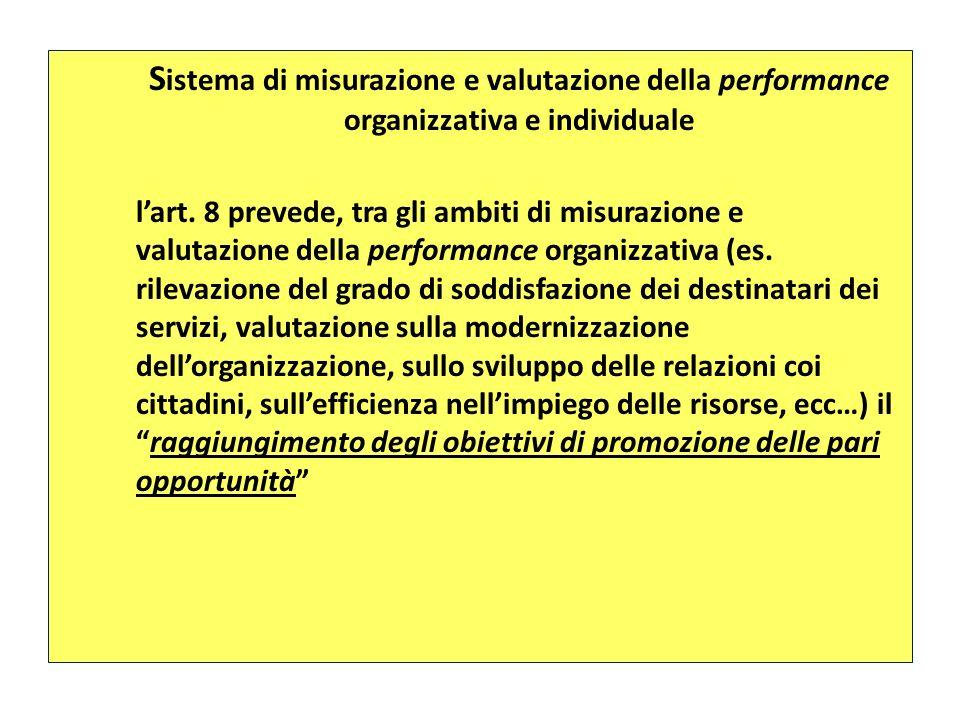 Sistema di misurazione e valutazione della performance organizzativa e individuale