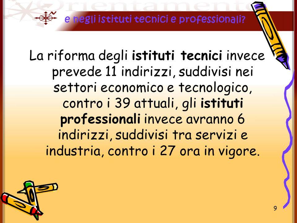 Riforma gelmini scuola secondaria di secondo grado ppt for Istituti tecnici