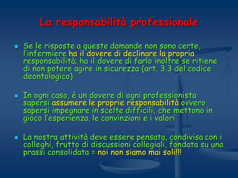La responsabilità professionale
